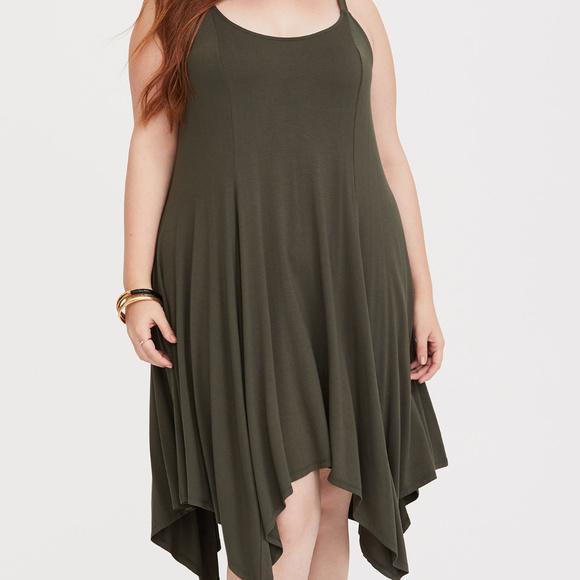 d357987b5cd NWT Olive Handkerchief Jersey Dress size 2